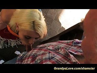 Horny Grandpa Fucks Cute Teen In Public
