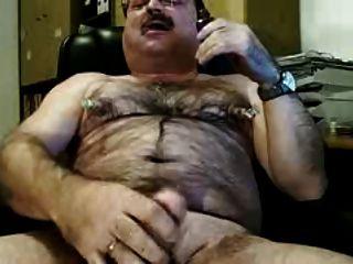 Dad Pumps Cock And Cum