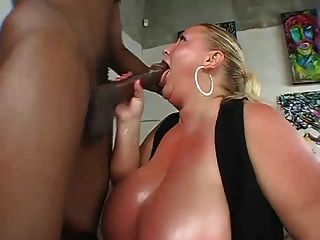 Big Tits Bbw Sucks Black Meat