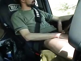 Str8 French Trucker Jerks His Cock While Driving