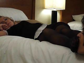Dre Hazel Getting Her Pantyhose Feet Sucked