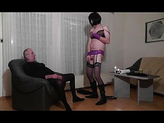 Horny Striptease, Smoke, Blow, Swallow, Cumshot