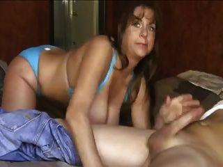 Big Tits In Blue Bikini