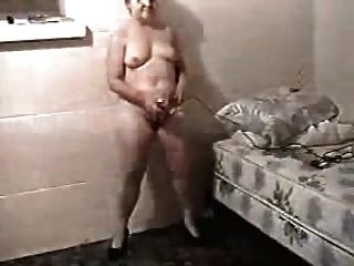 Mature Wife Masturbates So Hard She Can Barely Stand