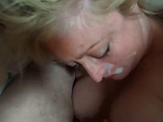 Mature Blonde Blowjob & Cum In Mouth