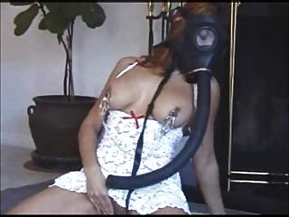 Justine - Nipple Clamps & Gas Mask Solo