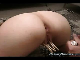 Casting Strapon Sexy Lesbians While Fucking Hard Pussy