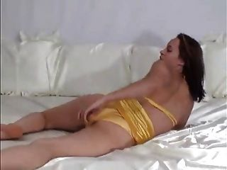 Hot Jess In Her Yellow Satin Panties
