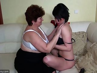 Oldnanny Pretty Threesome With Old Mature