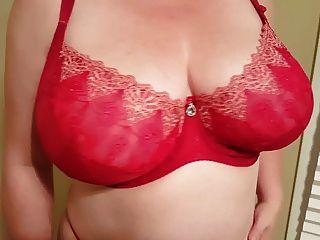 36hh Slut Lateshay Tits In Red Bra
