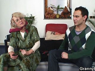 Lonely 60 Years Old Granny Pleases A Stranger