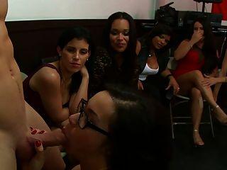 Glasses Slut Sucks Cock In Party Girls