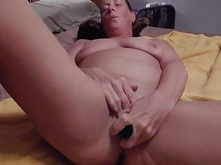 Milf Plays With Bananas And Toys