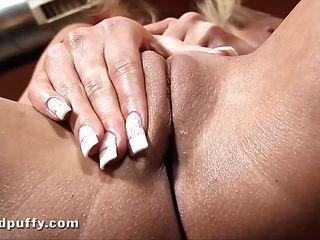 Big Tit Blonde Masturbates While Covered In Milk