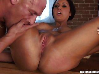 Hot Teacher Gets Titty Fucked After Class
