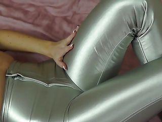 Silver Spandex Dicsco Jeans