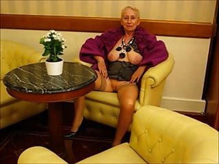 Stunning septuagenarian susanne strips and sizzles 2
