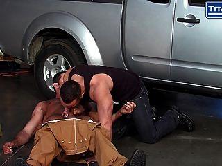 Hairy Big Dicked Mechanics Hook Up