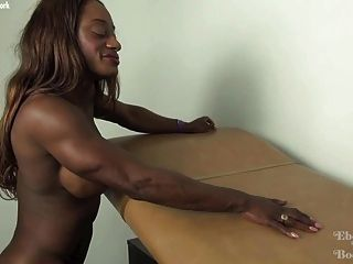 Sexy Ebony Muscle Ashley Starr