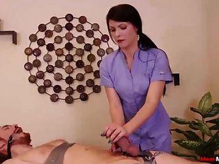 Horny Teen Babe Painful Handjob