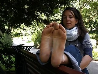 French Barefeet Hippy Girl