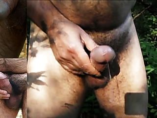 3 Hot Outdoor Cumshots With Amazing Precum + Juice Slideshow