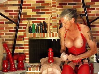 Bobbie Using Huge Dildos Again 1