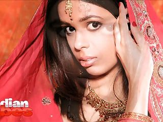 Indian Babe Priya In Bridal Dress Stripping Naked