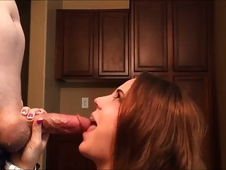Cute Brunette Choking On A Huge Cock With Cumshot