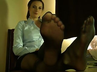 Sexy Feet In Nylon