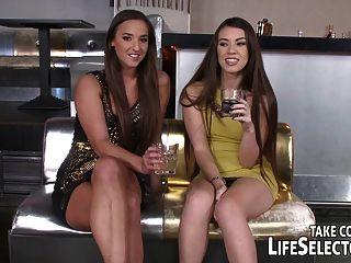 Bar Owner Fucks Two Horny Girls