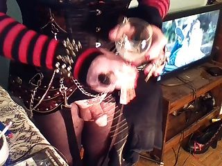 Smoking, Stroking A Bit Of Cum And A New Toy