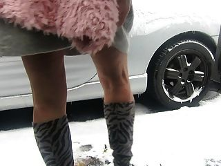 Modeling My New Zebra Boots