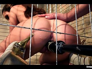 Lola Wan Helpless In A Cage Bound Gagged Dildoed And Vibed