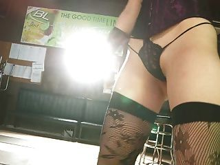 Mayu Dancing - Double String Thong Lace Stocking