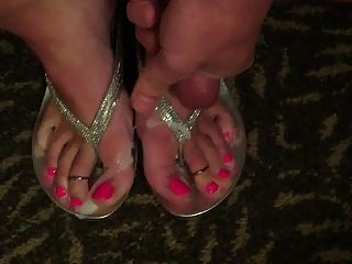 Tgurl Cums On Sandals And Toes