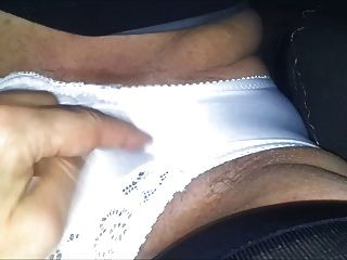 White Silk Panty Rubbing