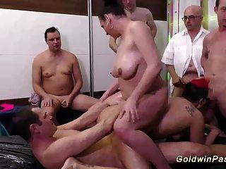 Slippery Nuru Lederhosen Orgy