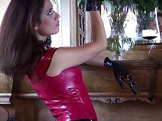 Olivia Red Latex Top