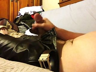 Cumming On My Leather Pants