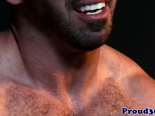 Muscular Hunk Banging A Hairy Male Stripper