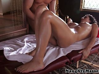 Massage Hottie Megan Salinas Strips For Masseur