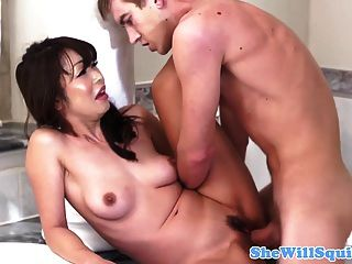 Petite Asian Squirter In This Funny Scene