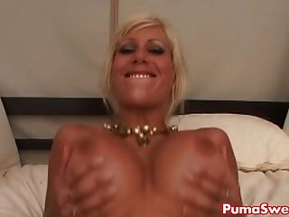 European Pornstar Puma Swede Fucks Outside By The Pool!