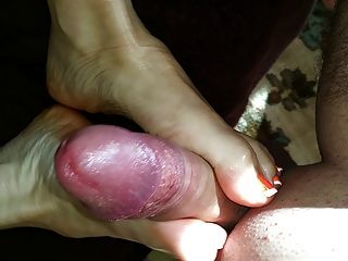 Oiled Up Her Soles And Fucked Her Feet