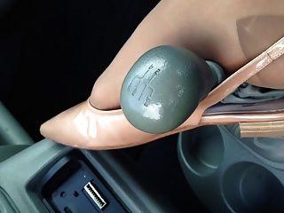 Beautiful Nylon Foot On Gear Shift
