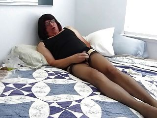 Sissy Bobbie At It Again Nylons Make Her Crazy