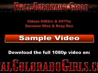 Skinny Titless Colorado Hotties Show Off Outdoors
