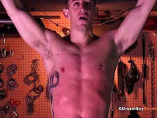 Muscle Stud Whipped Until He Cries - Gay Bondage