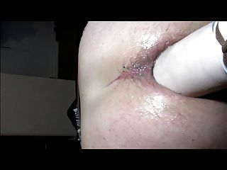 Worn Out Hole With Giant Dildo